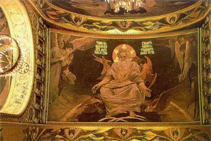 Васнецов В. Бог-отець. Розпис склепіння головної нави