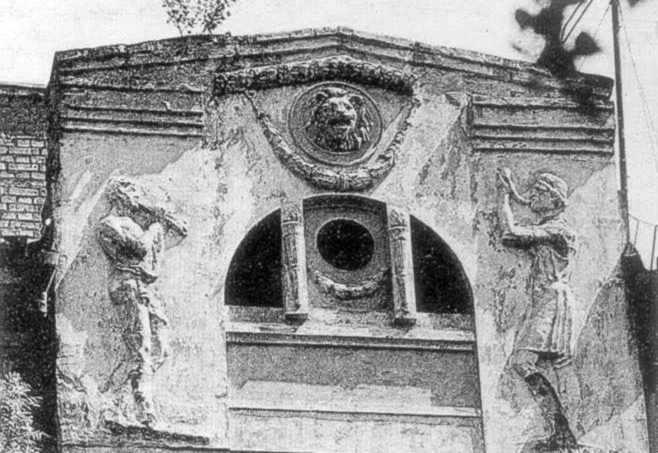 Фрагмент декоративного оформлення фасаду