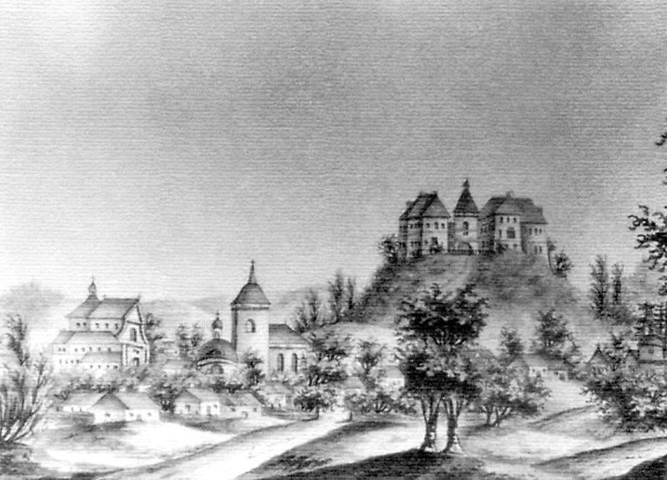 19 ст. Панорама містечка. Малюнок