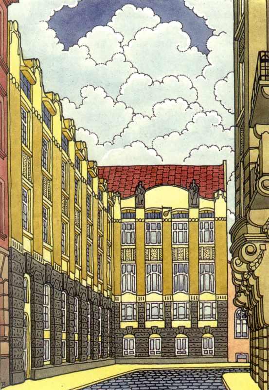 Головний та бічний фасади