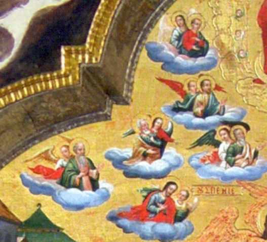 Ангели несуть апостолів (ліва група)