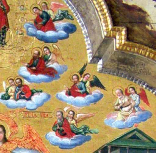 Ангели несуть апостолів (права група)