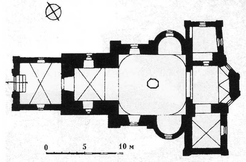 План церкви. За: Kowalczyk J. Zamosc. Przewodnik. - Zamosc, 1995.