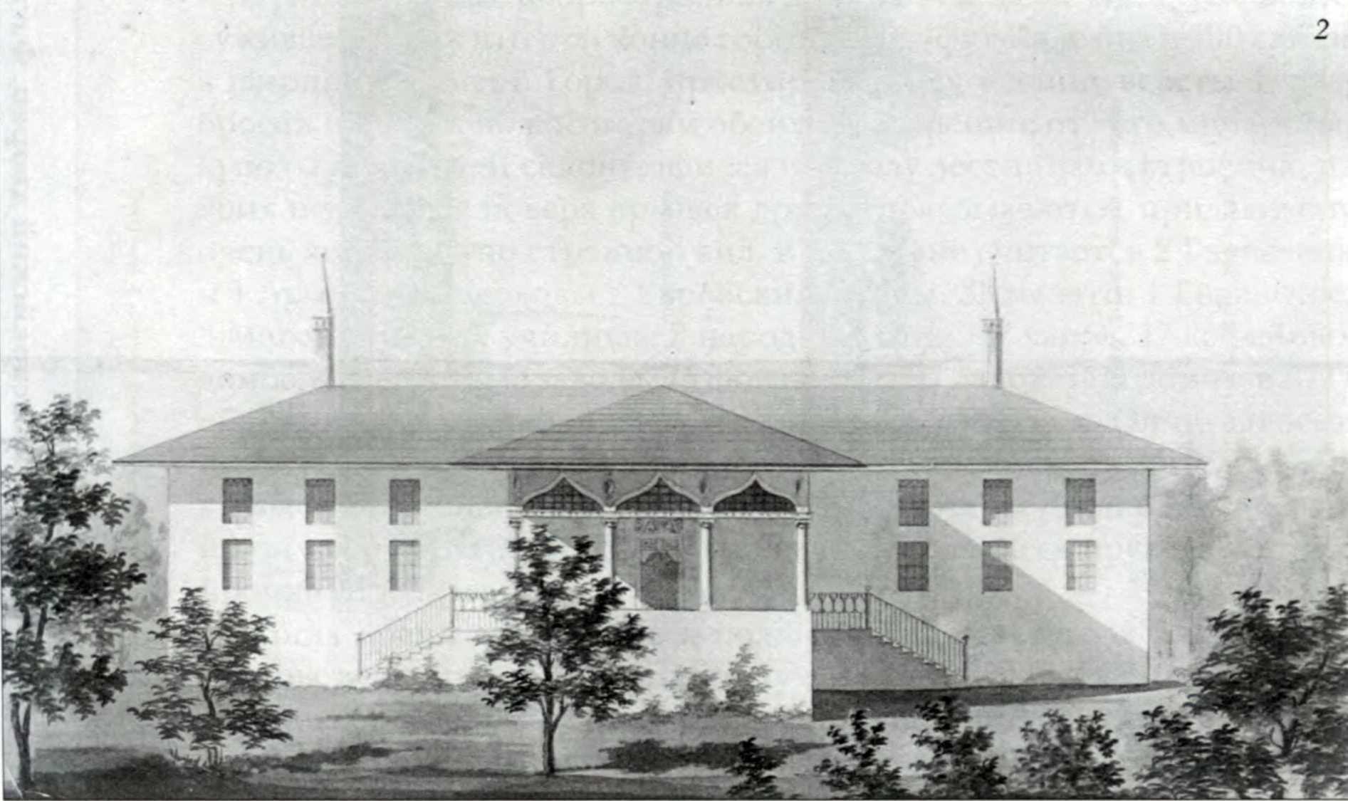 1798 р. Головний фасад, проект реставрації