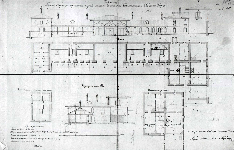 1894 р. Стайні та бібліотека