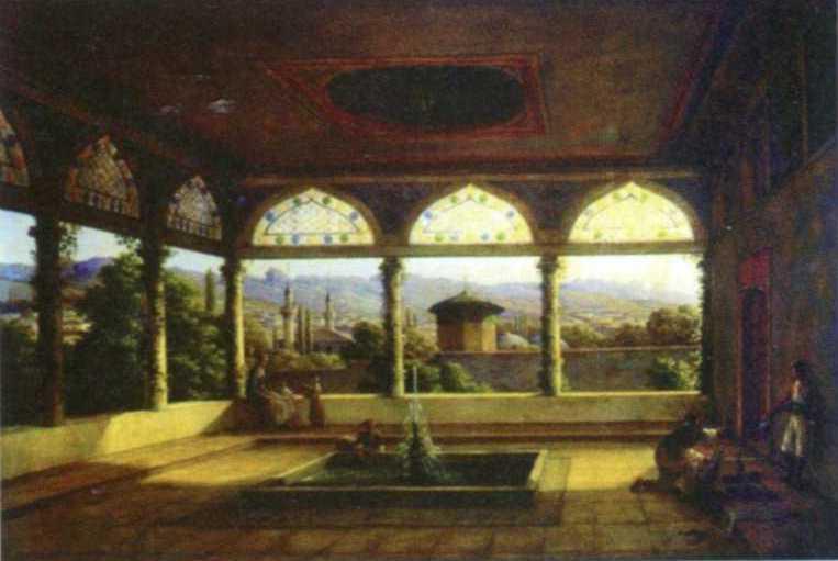 1837 р. Інтер'єр альтанки Селямет-Гірея