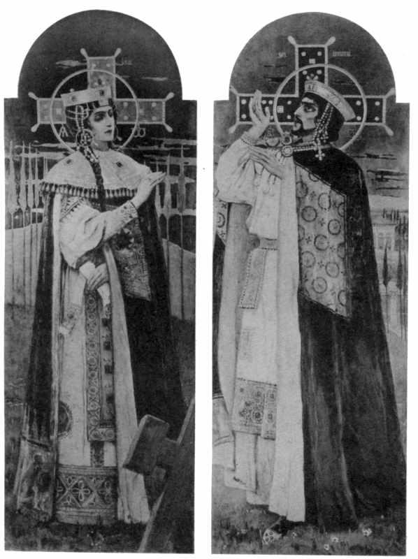 М.В.Нестеров. Св.Олена і Костянтин (головний іконостас)