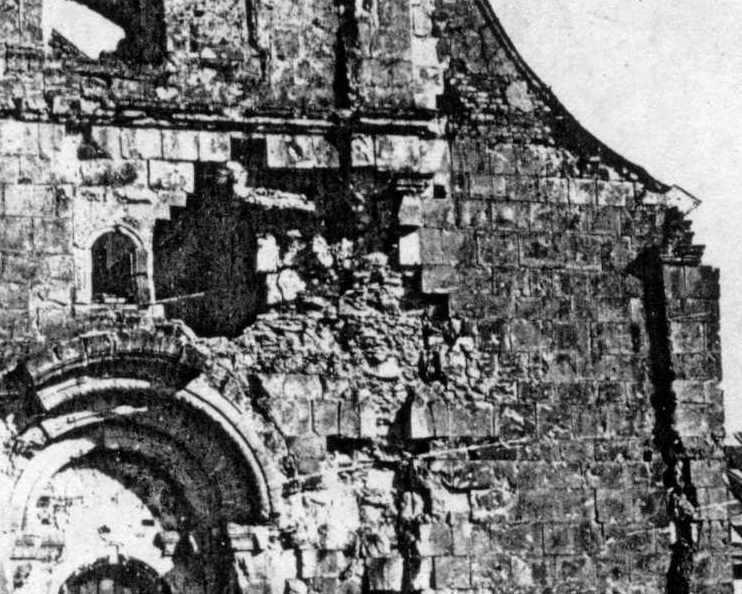 Південна частина західного фасаду – середній ярус