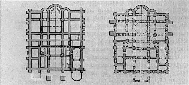 План Десятинної церкви (реконструкція М. Єфимова)