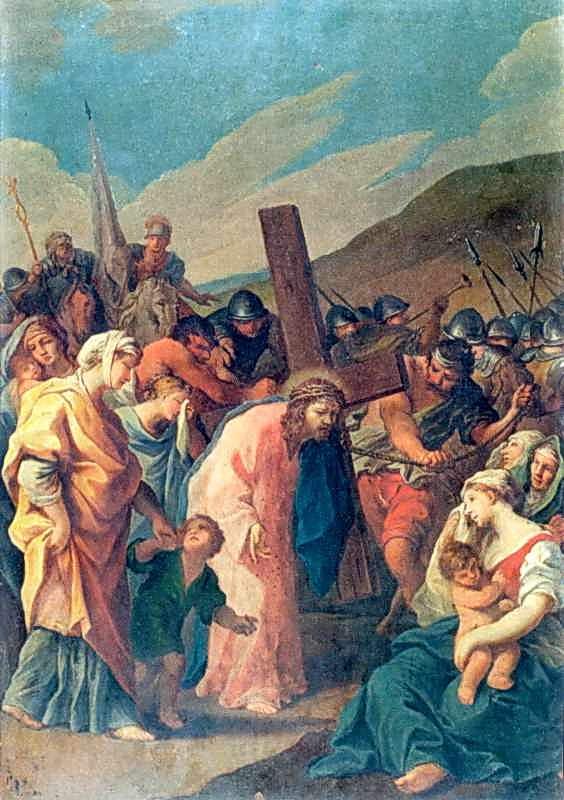 """Стація VIII. """"Христос, несучи хреста,…"""