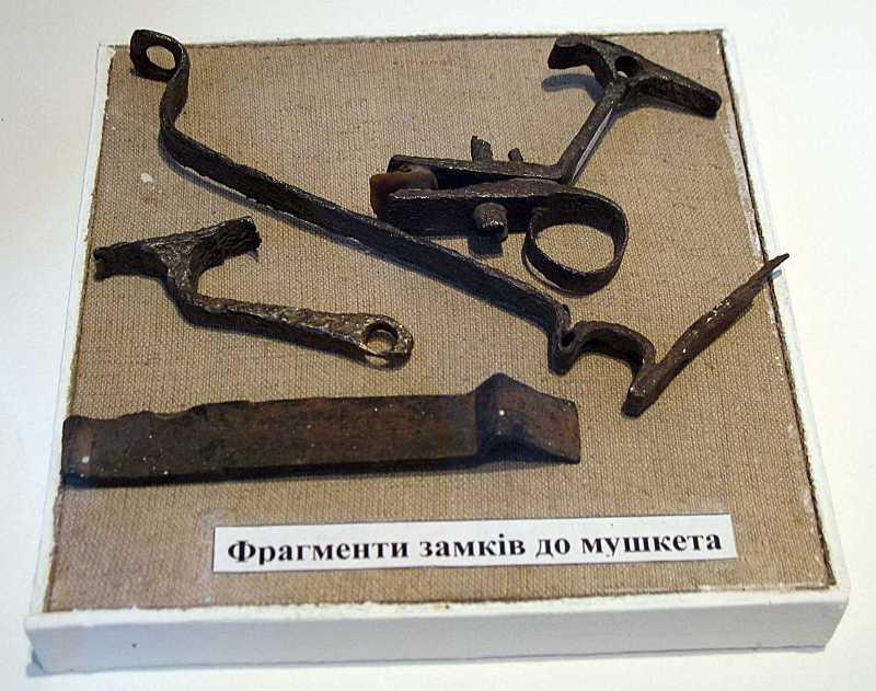 Фрагменти замків до мушкетів