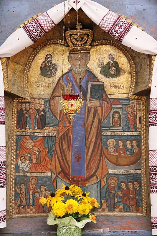 Ікона «Св. Миколай з житієм»