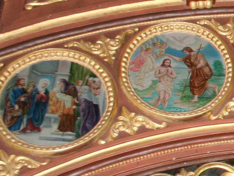 Ікони «Стрітення», «Хрещення»