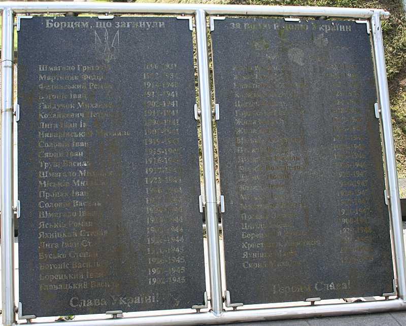 Пам'ятні таблиці з іменами