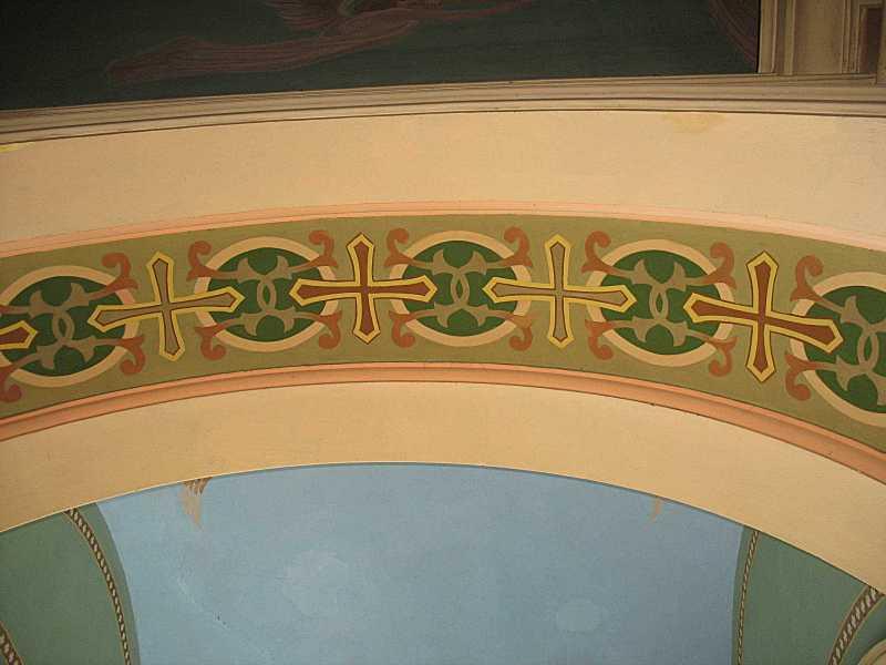 Орнаментальний розпис підпружної арки