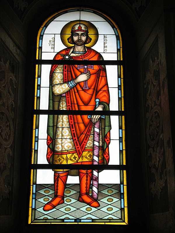Вітраж «Св. князь Борис»