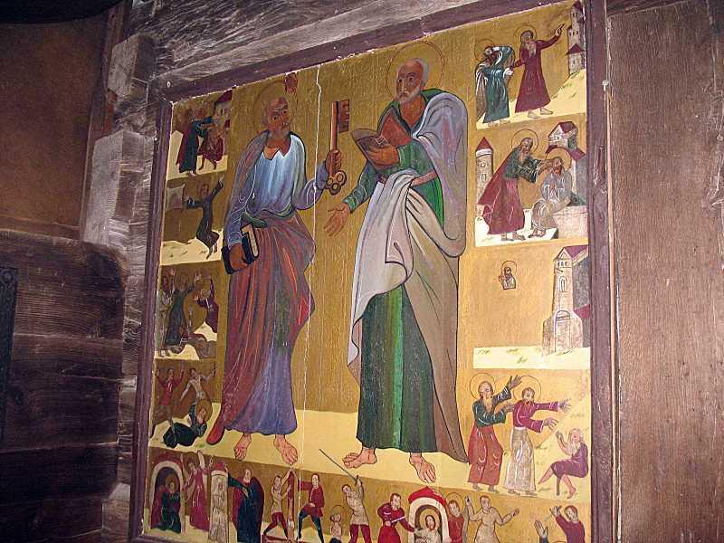 2008 р. Ікона «Петро і Павло з житієм»