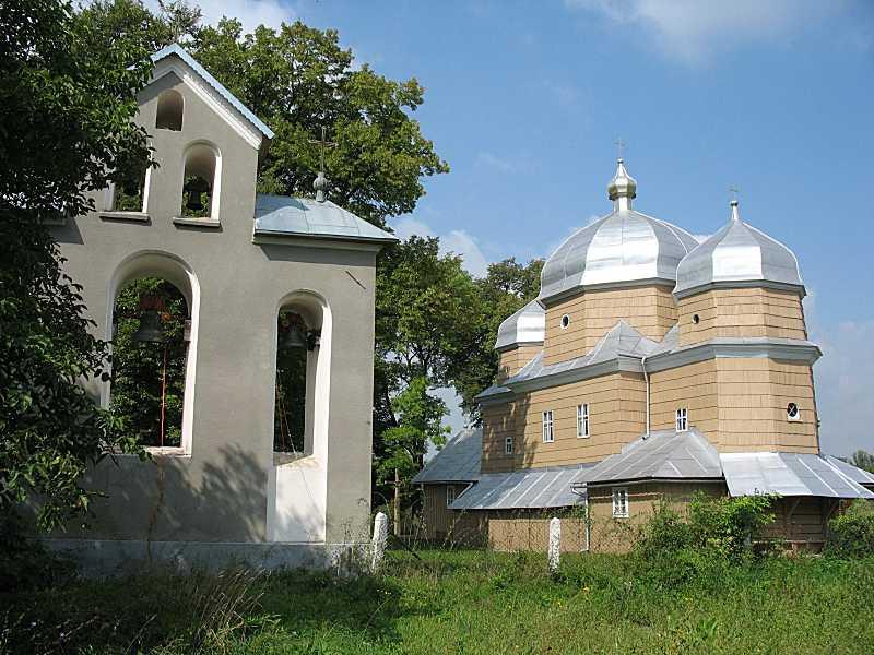 2006 р. Дзвіниця та церква. Вигляд з…