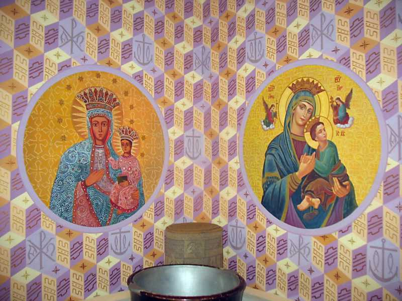 Дві ікони богородиці