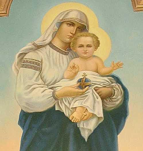 Півпостать Марії з немовлям