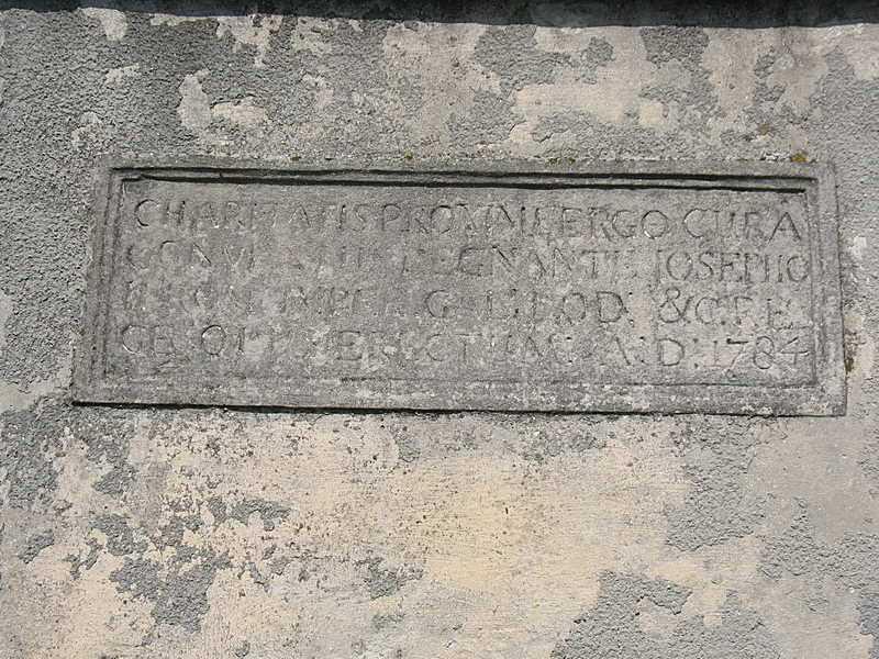 Напис з датою 1784 р.