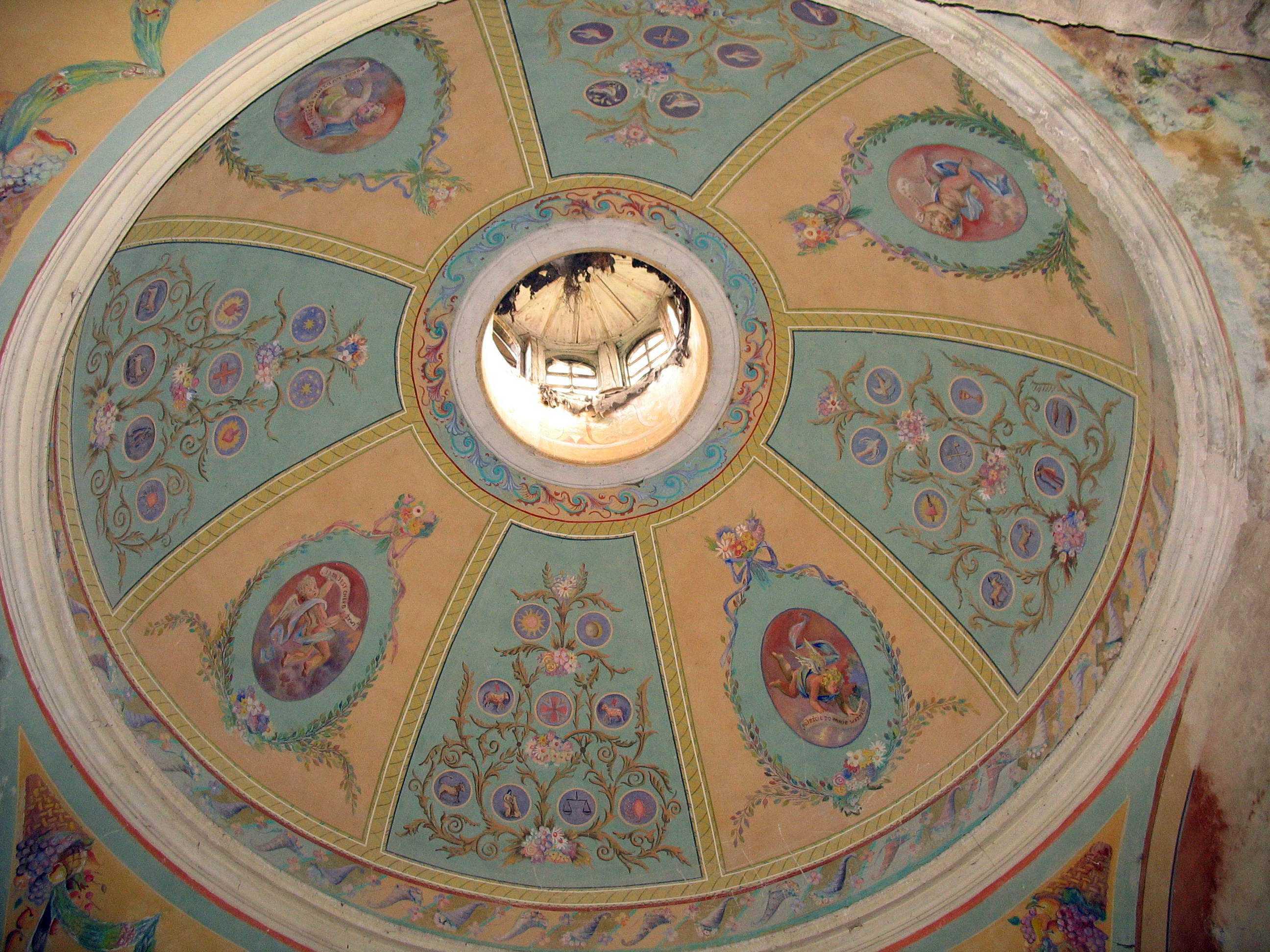 Інтер'єр купола каплиці