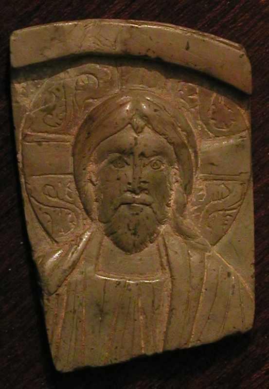 Фрагмент стеатитової іконки Христа 12…