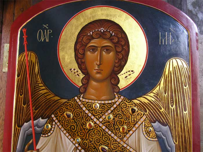 Півпостать архангела Михаїла. Фрагмент ікони