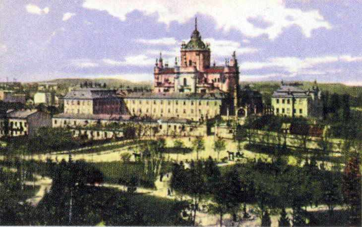 1916 р. Загальний вигляд з півдня. Поштівка