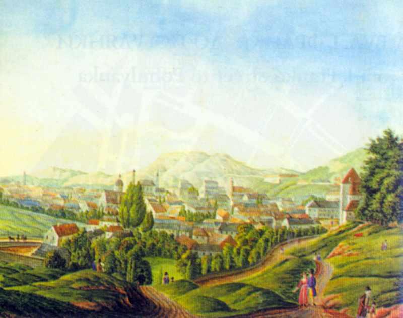 Бл. 1825 р. Вид з Вовчої гори (гори…