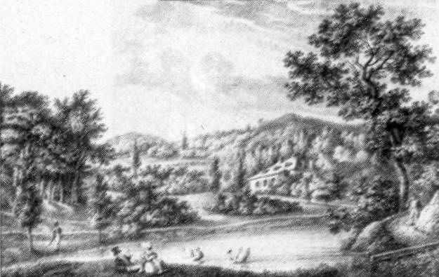 1823 р. Цетнерівка. Літографія А.Лянге