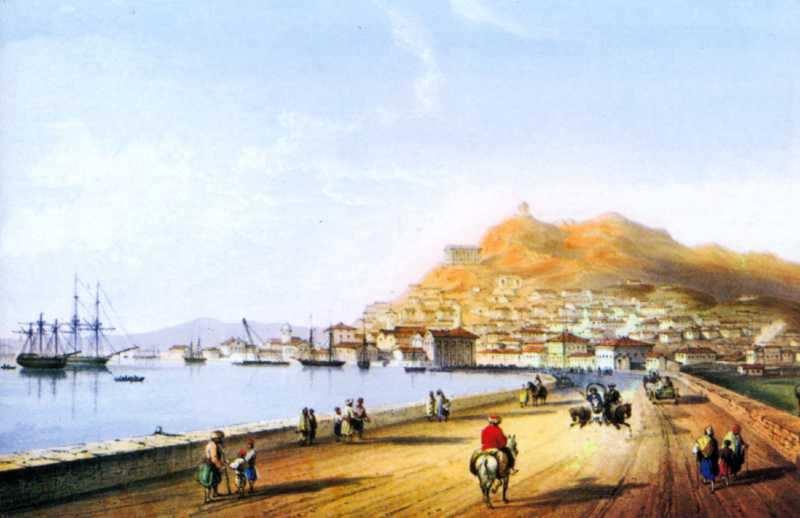 1840 р. Загальний вид міста (К.Бассолі)