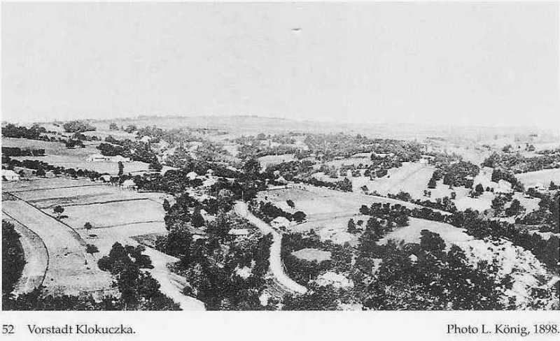 Вид передмістя Клокучка у 1898 р.
