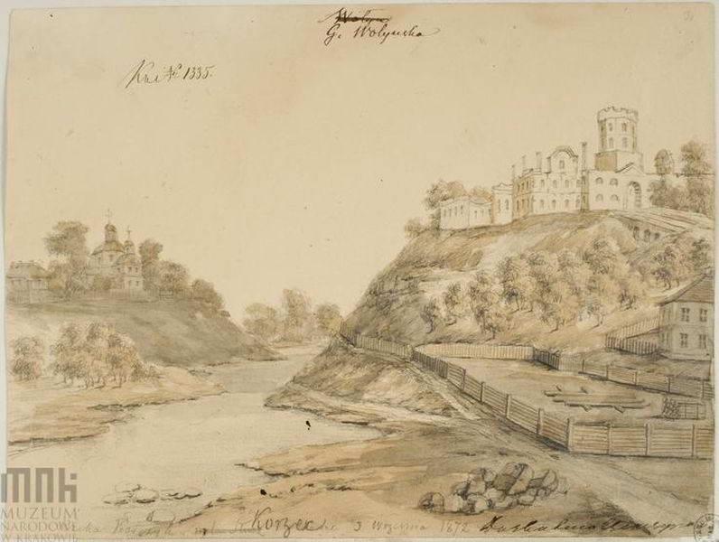 1873 р. Руїни замку
