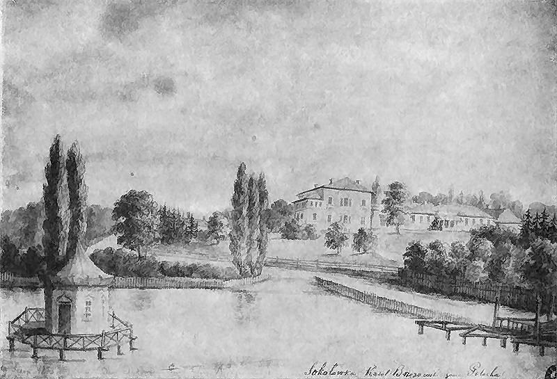 1873 р. Загальний вигляд з боку ставу