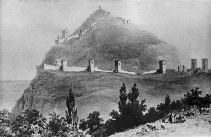 1790-і рр. Загальний вигляд з північного сходу. З гравюри Іванова