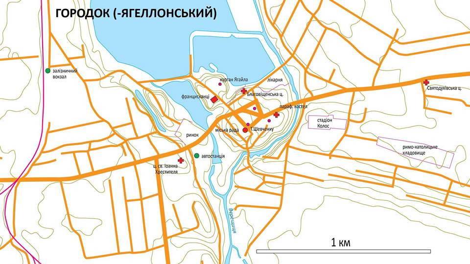 План м. Городок