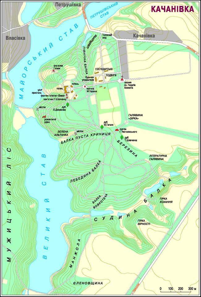 План Качанівської садиби