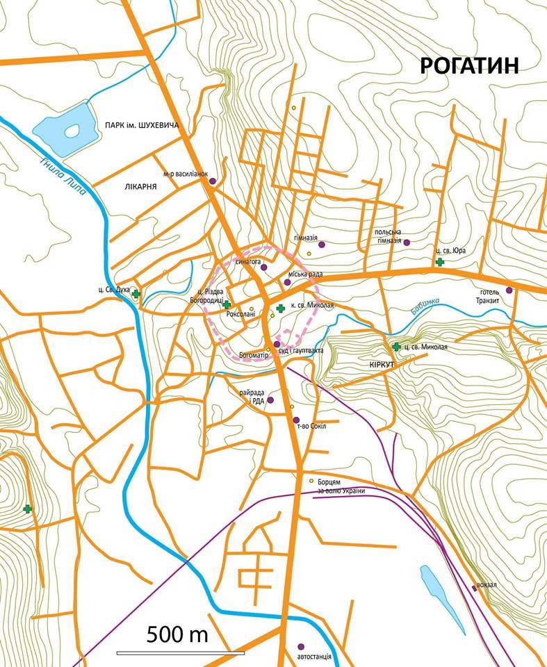 План м. Рогатин