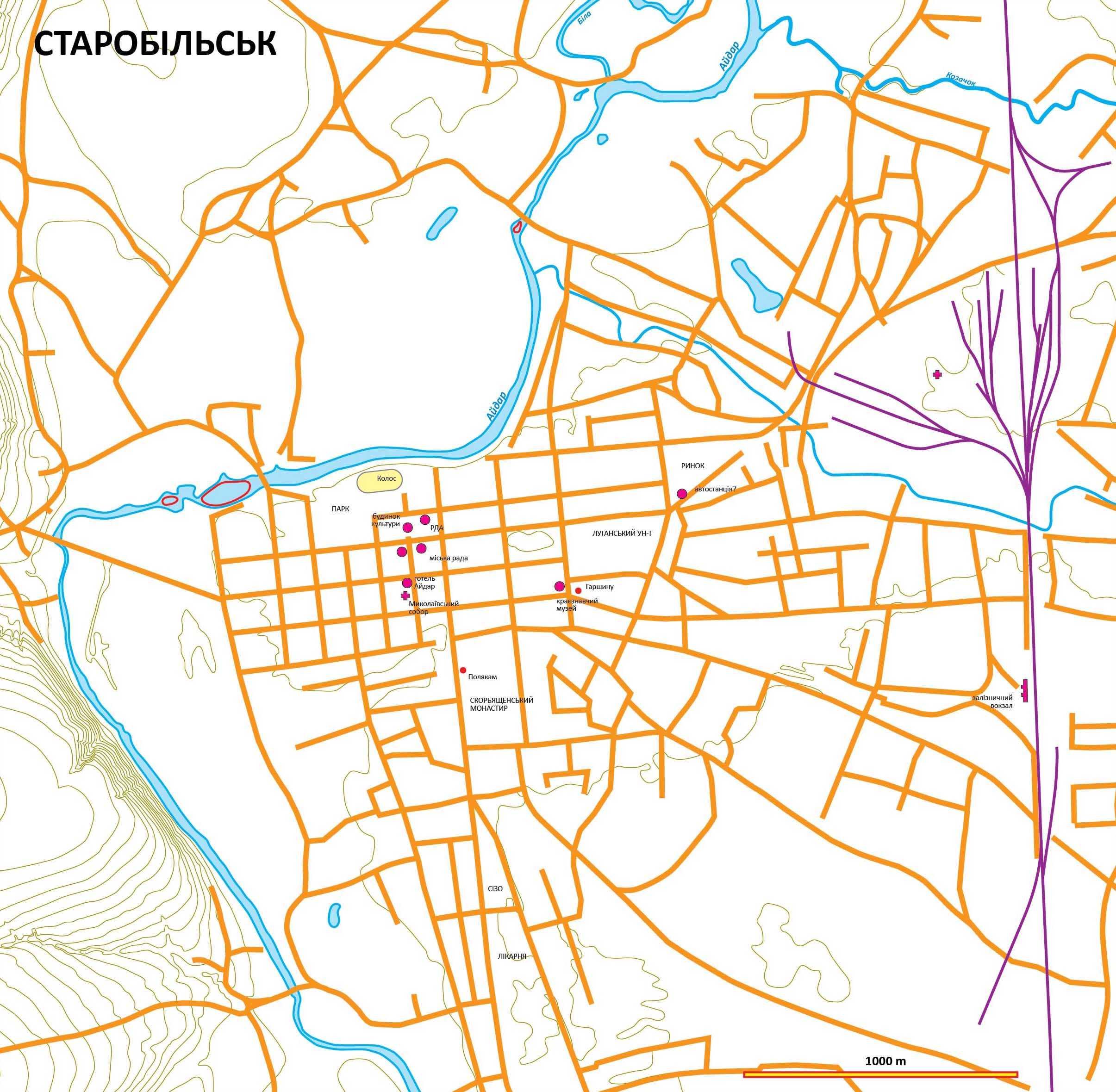 План м. Старобільськ