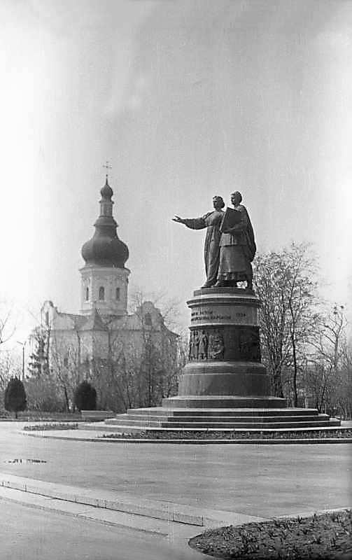 1976 р. Загальний вигляд з позиції С2 на тлі Вознесенського собору
