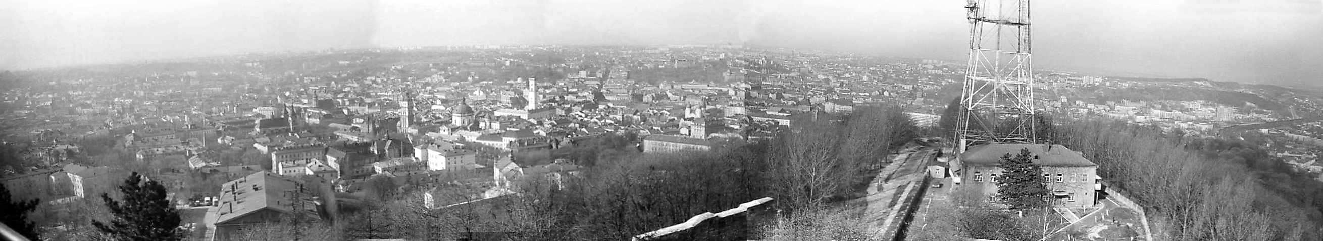 1976 р. Панорама міста з Високого замку