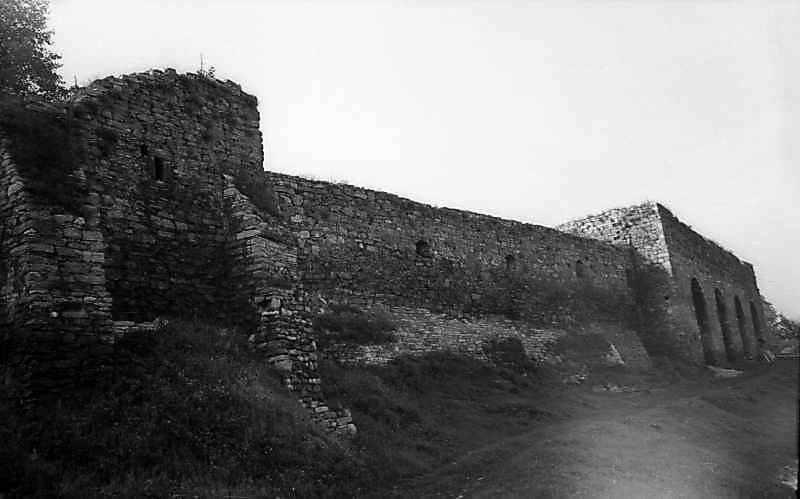 Оборонний мур з баштою над Польською брамою