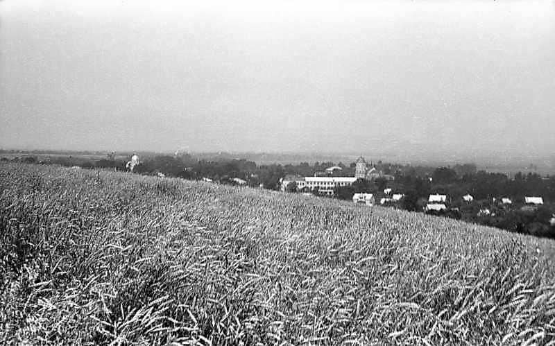 1977 р. Панорама з церквою і костелом…