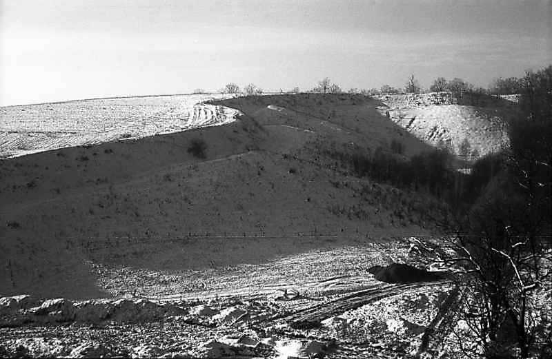 1977 р. Північний ескарп городища.…
