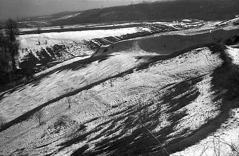 1978 р. Ескарп Хотівського городища. Вигляд із заходу