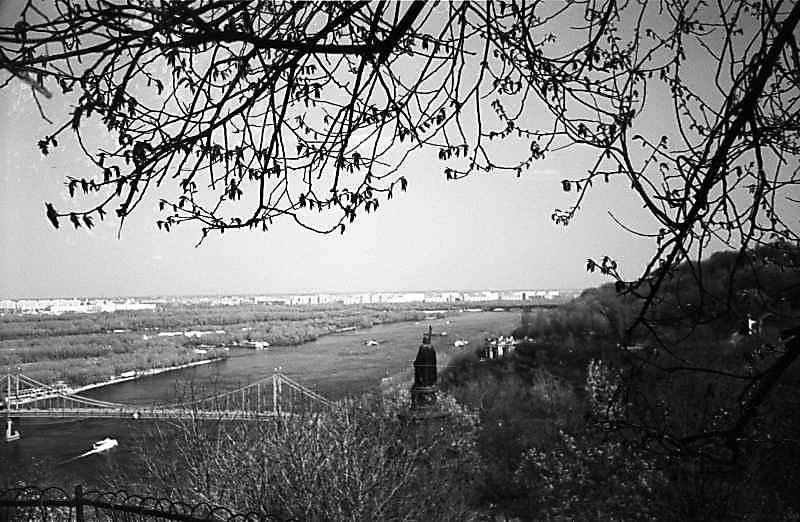1978 р. Вид на Дніпро та пам'ятник кн.Володимиру