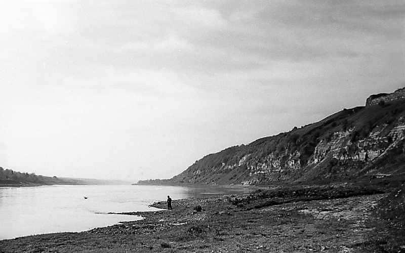 1978 р. Вид на Дністер від підніжжя замку