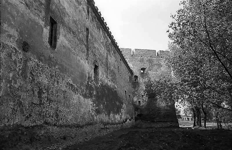 1978 р. Північно-західний мур і західна башта. Вигляд з півночі