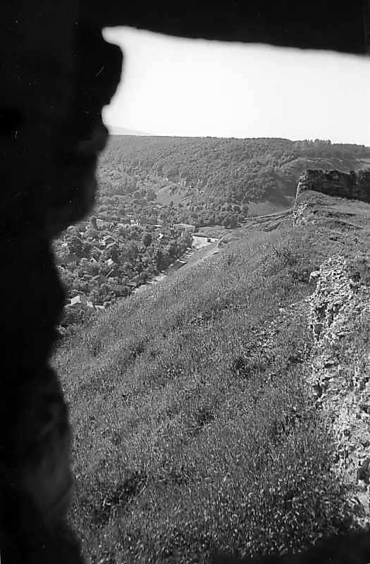 1978 р. Вид з бійниці на схил (на…
